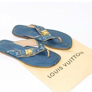 93163da4b09b Louis Vuitton Shoes - Sandals denim slippers 35.5 koala Louis Vuitton